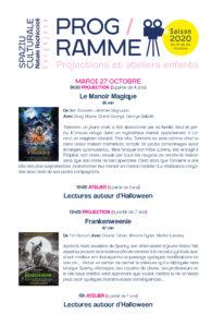 Programme cinéma & atelier du 27 au 30 octore